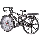 Garneck Mini Modelo de Bicicleta Despertador Reloj de Escritorio Decorativo Temporizador Bicicleta Estatuilla Artesanía Adorno de Mesa para El Hogar Dormitorio Decoración de La Sala de