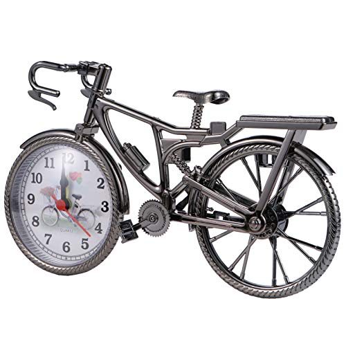 Garneck Mini Modelo de Bicicleta Despertador Reloj de...