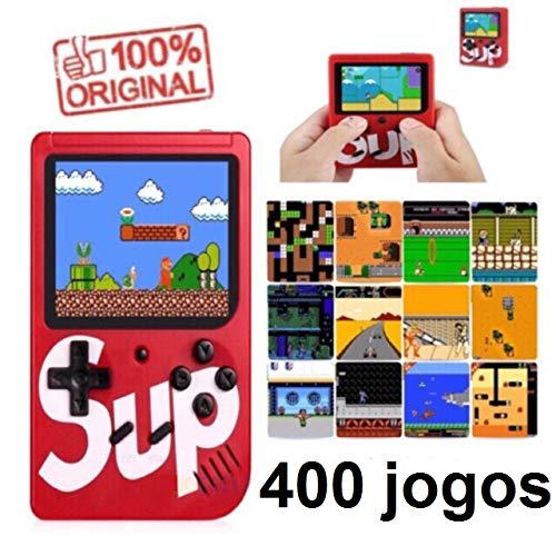 super mini game 400 em 1 completo só ligar e jogar ideal para crianças e adultos cor do console sortida