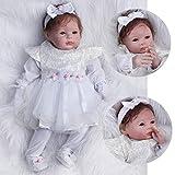 ZIYIUI Lebensecht Reborn Babys 55cm Doll Puppen Silikon Mädchen WiederGeboren Reborn Babypuppen...