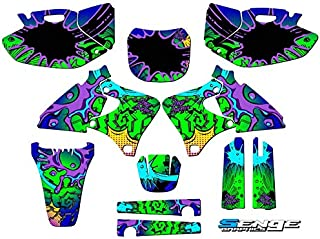Compatible with Yamaha 1998-2002 YZ 250F/400F/426F (4-Stroke), Zany Blue Complete Graphics Kit