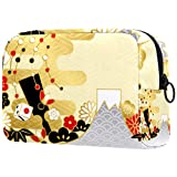 コスメティックバッグレディースメイクアップバッグ 化粧品交換キーなどを携帯する旅行に,日本の年賀状