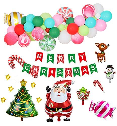 lúcar Navidad Aluminio Película Balloon Decoración Santa...