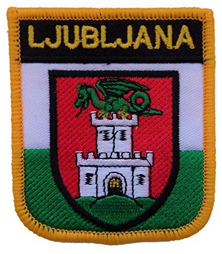 1000 Flaggen Ljubljana Litauen Schild Bestickt Patch Badge