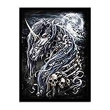 Leinwand Bild,Moonlight Einhorn Und Libelle, Poster Und