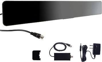 GE Indoor Amplified Digital HD TV Antenna, Modern Bar Design, Long Range Amplifier Signal..