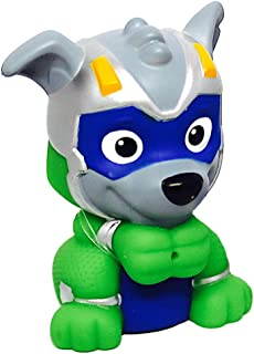 Rocky Mighty Pups Charged Up Paw Patrol Bath Squirter 3""