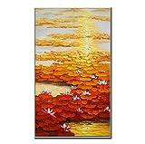 Generic Espátula Paisaje Arte 100% Lienzo Pintado a Mano Pintura al óleo Textura Arte Pared imágenes para salón decoración