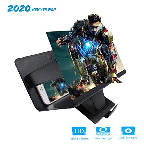 Phone Screen Magnifier, Smartphone Screen Magnifier 3D Phone Screen Amplifier for Home Viewing, Outdoor Viewing,Gifts to The Elderly, Children, and Students,Black.