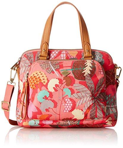 Oilily Damen S Handbag Henkeltasche, Pink (Pink flamingo), 10x20x26 cm