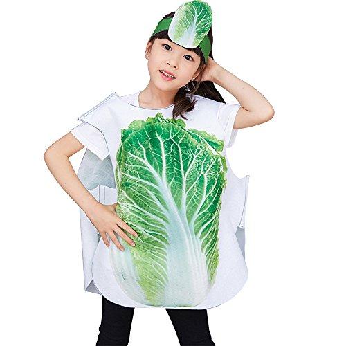 BOZEVON Niños Niñas Adultos Cosplay Fiesta de Disfraz Trajes de Frutas Verduras y Animales Dancewear Unisex Ropa