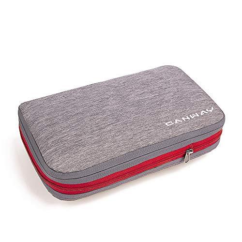 CANWAY Komprimierbar Kofferorganizer Packtasche Packsäcke Packing Cube Kleidertasche Packwürfel mit Kompression für Rucksack & Koffer Geschäftsreise Sport Camping Reise Wandern Unisex (Grau 9L)