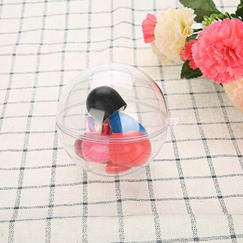20 bolas de plástico transparente rellenables, adornos para decoración de boda, Navidad, bolas de adornos transparentes, 5 cm, 8 cm, 10 cm, para decor