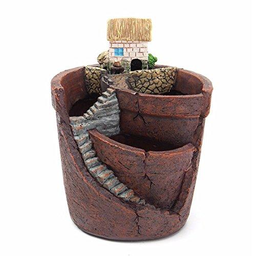 Cosye Maceta de Plantas Creativas con Maceta de combinación de Resina de la Ciudad del Cielo Maceta de Plantas suculentas Maceta de Flores Maceta