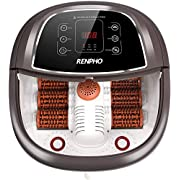 RENPHO Foot Spa Bath Massager with Fast Heating, Automatic Massage, Powerful Bubble Jets, Motorized Shiatsu Massaging Rollers, Pedicure for Tired Feet, Adjustable Timer and Temperature, LED Display