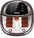 RENPHO Foot Spa Bath Massager with Motorized Massage, Fast Heating, and Powerful Bubble Jets, Automatic Shiatsu Massaging Rollers, Pedicure for Tired Feet, Adjustable Time and Temperature, LED Display