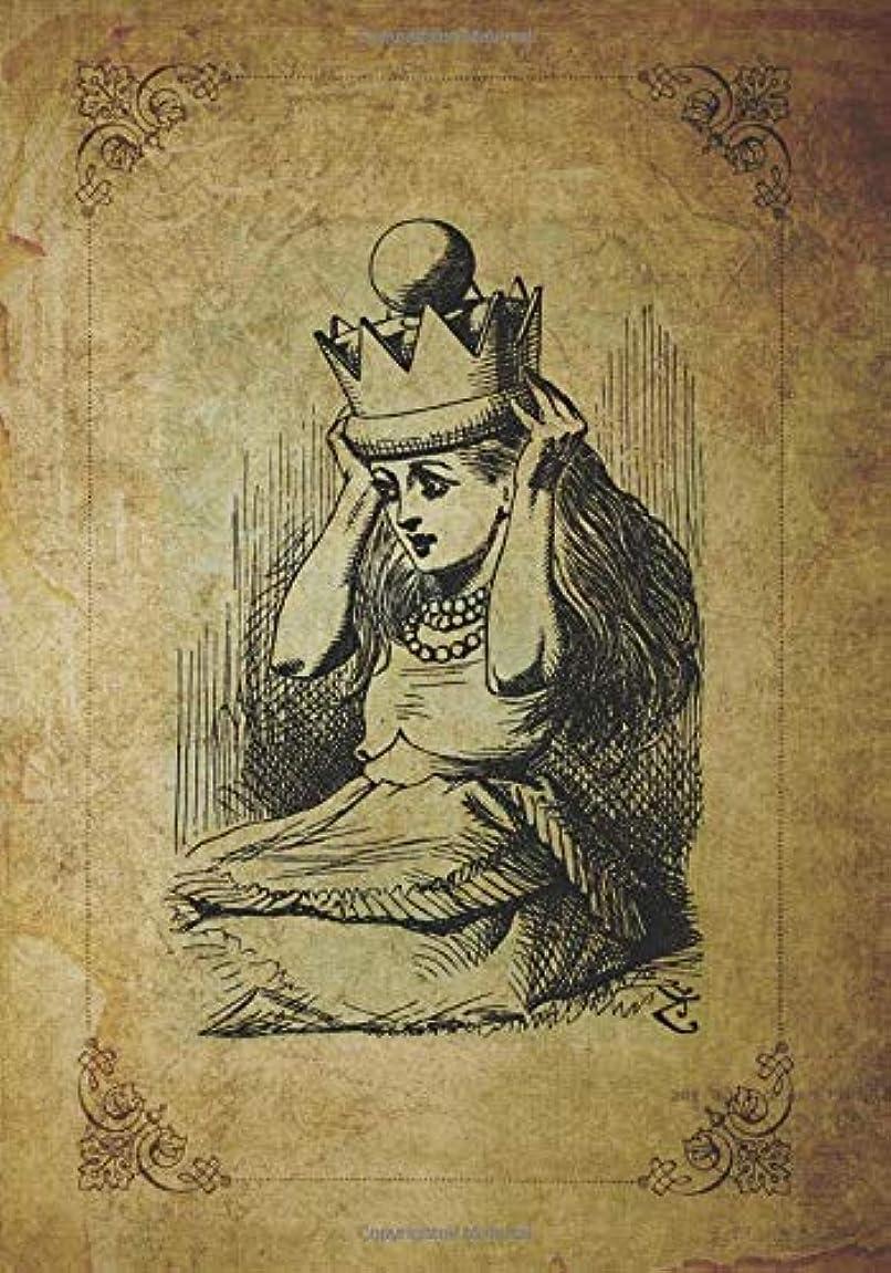パイル羊の服を着た狼ペーストAlice in Wonderland Journal: Fun vintage antique looking Alice in wonderland inspired, through the Looking-Glass journal blank lined book for writing in. For fans of Lewis Carroll stories.