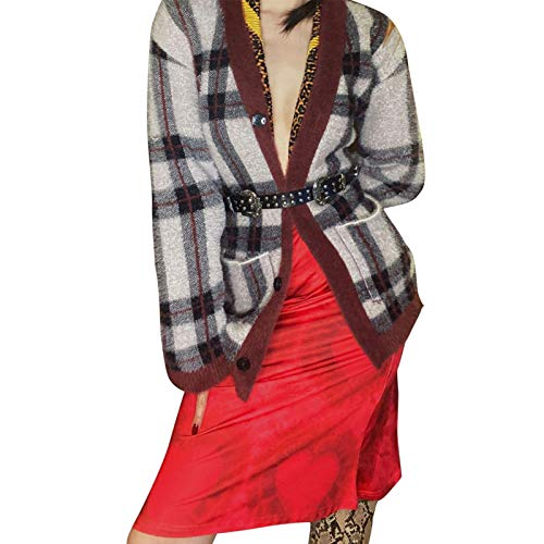 gormyel Women's Bohemian Floral Printed High Waist Pleated A-line Midi Skirt Fashion Y2K 90S E-Girl Street Wear