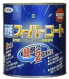 アサヒペン ペンキ 水性スーパーコート 水性多用途 白 1/12L