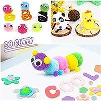 WuikerDuo, set di materiali creativi per bambini, include colla glitterata, pompon, pulitori per tubi, bastoncini per ghiaccioli per bambini e bambini #4