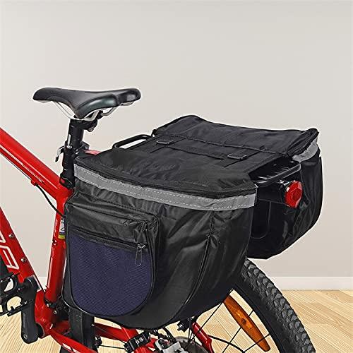 Alforjas Bicicleta Pinners a prueba de agua 25L Doble la espalda, MTB Transportador de la cola del asiento trasero, cubierta de lluvia detrás de la barra de bicicleta, bolso trasero de la bicicleta Do