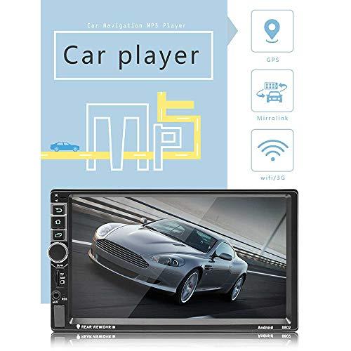 Car Stereo Smart Navigation op het dashboard, 2-DIN 7 inch, touchscreen, dvd-ontvanger met Bluetooth/Mirror Link/HD 1080p/oproepherkenning enz. Veel andere functies