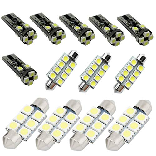 For VW Volkswagen Golf MK4 5 6 7 GTI Tour Dome Interior Led Lights Bulbs Kit Accessories Ultra Bright White 13pcs