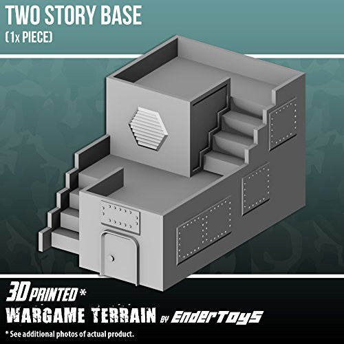 EnderToys Two Story Base, Terrain Scenery for Tabletop 28mm Miniatures Wargame, 3D Printed and Paintable