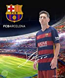 FC Barcelona Messi Silk Touch with Sherpa Lining Throw Blanket 50x60