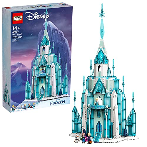 LEGO Disney The Ice Castle 43197 Building Toy Kit; A Gift That Inspires Independent Princess Play; New 2021 (1,709 Pieces)