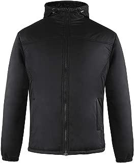 Mens Parka Jacket Warm Fuzzy Lining Coat with Hood Windbreaker Jacket