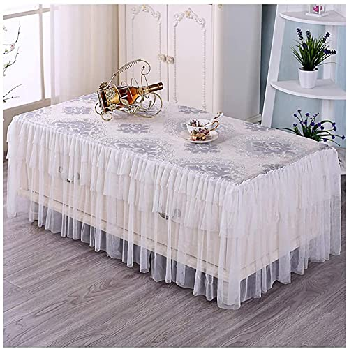 MUZIDP European tablecloth Tablecloth - Rectangular Living Room Coffee Table Cover Lace Dust TV Cabinet Table Cloth (Size : 80 * 130cm)