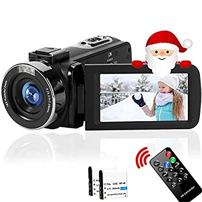 4K Video Camera Ultra HD Camcorder 48.0MP IR Night Vision 32X Digital Camera WiFi Vlogging Camera with External Microphone and Lens Hood, 3 in Touch Screen by SEREER