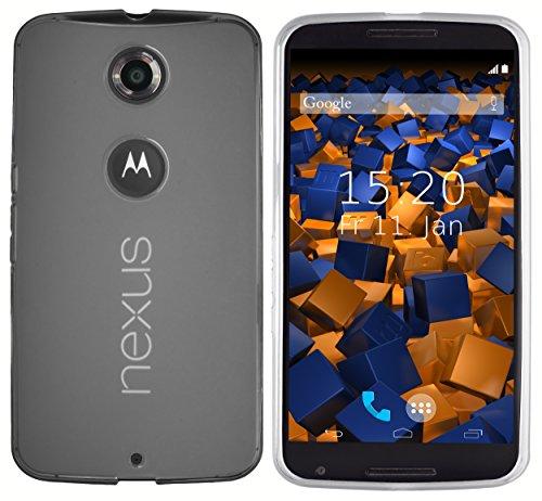 mumbi Hülle kompatibel mit Motorola Nexus 6 Handy Case Handyhülle, transparent Weiss