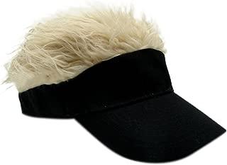 Novelty Sun Visor Cap Wig Peaked Adjustable Baseball Hat with Spiked Hair