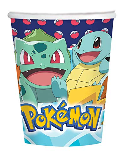 Amscan International 10025588 Pokemon Pokémon - Tazas de papel (250 ml, 8...