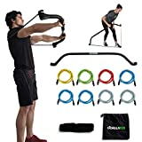 Gorilla Bow Portable Home Gym Resistance Band System, Weightlifting and HIIT Interval Training Kit, Full Body Workout Equipment (Black, Heavy Original Size)