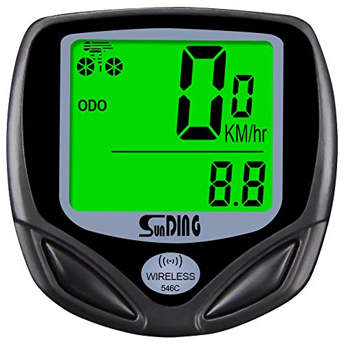 ARJudy Bike Speedometer Waterproof Wireless Bicycle Bike Computer and Cycling Odometer with Automatic Wake-up Multi-Function LCD Backlight Display