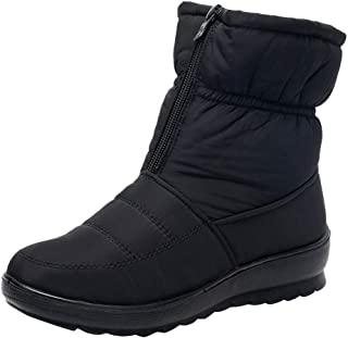 Women's Ladies Winter Waterproof Thermal Martin Short Thickened Snow Boots Footwear Warm Shoes