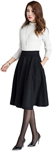 Women s Two Piece Knee Length Western Skirt and High Neck T Shirt Dress