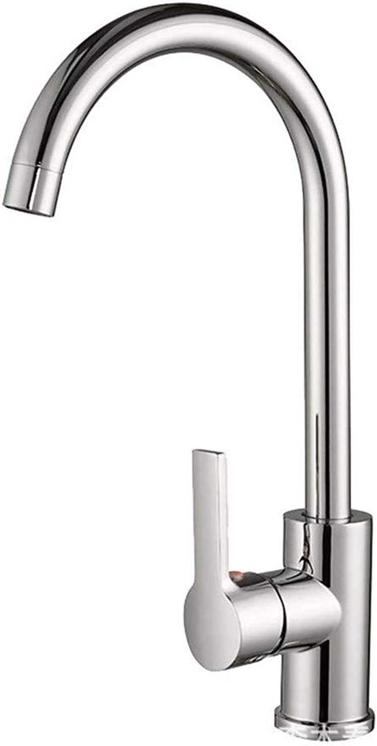 Yuanshuai88-Faucet Faucet kitchen dish hot and cold double single hole 360 ??degree redating sink faucet