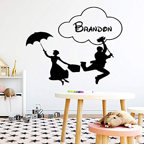 Tianpengyuanshuai Benutzerdefinierter Name Hauptdekoration Wandaufkleber für Kinderzimmer Wanddekoration Wandbild Schlafzimmer Wandaufkleber 42X51cm
