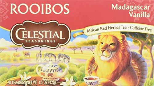 Celestial Seasonings - Vainilla descafeinada del té de Rooibos - 20Bolsitas de té