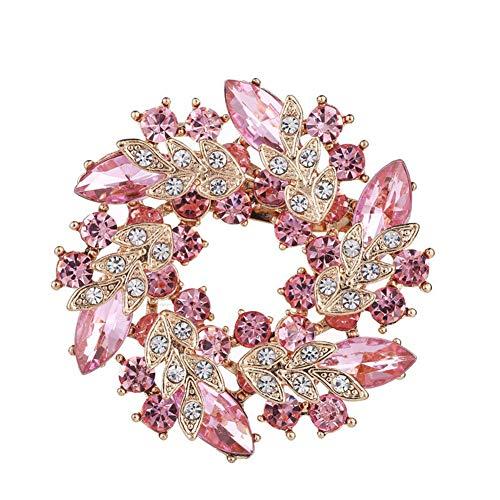 Broches Ropa Broches De Bisuteria Broche Vintage Broche de Cristal Las Mujeres broches Pines Señoras Broche Broches para Mujeres Vintage Pink