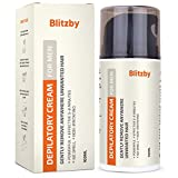 Blitzby Hair Removal Cream For Men and Depilatory Cream For Men, Effective in 10 Minutes, No smell,...