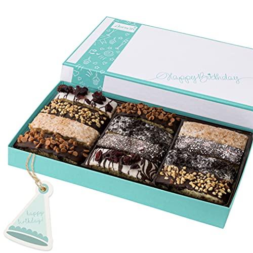 Barnett's Birthday Chocolate Biscotti Gift Basket for Women & Men Gourmet Italian Cookies Happy...