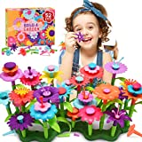 Snoky Toys for 3-12 Year Old Girls Flower Garden Building Toys for 3-5 Year Old Girls Birthday Gifts Age 6-8 Learning Educational Toys for Kids Preschool Activities for 2-4 Year Olds Xmas Gifts(52PCS)