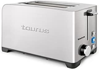 comprar comparacion Taurus Mytoast Duplo Legend Tostador, 1400 W, Acero Inoxidable, 2 Ranuras, Gris