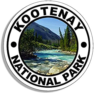 American Vinyl Round Kootenay National Park Sticker (Travel rv Hike bc Canada)