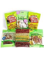 6 Packs de Snacks, Chuches y Premios para Perros Medianos y Grandes - Golosinas y Aperitivos para Premiar y Educar - 1500 g